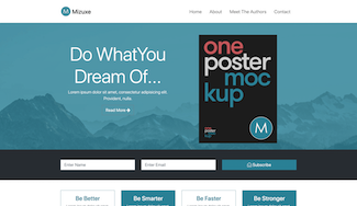 Tim Udoma's mizuxe bootstrap 4 template