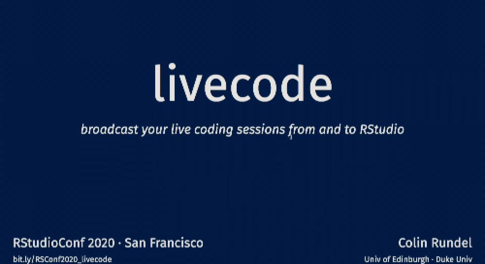 livecode: broadcast your live coding sessions from and to RStudio