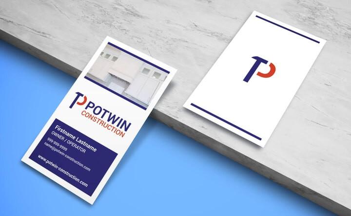 potwin construction business card