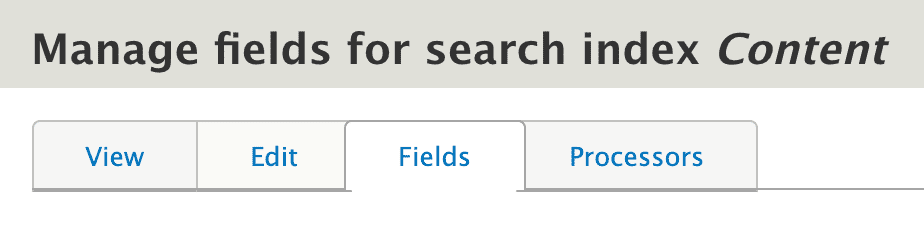 navigate to fields tab