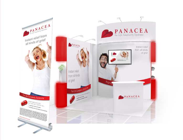 panacea trade show setup