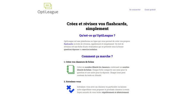 OptiLeague home page