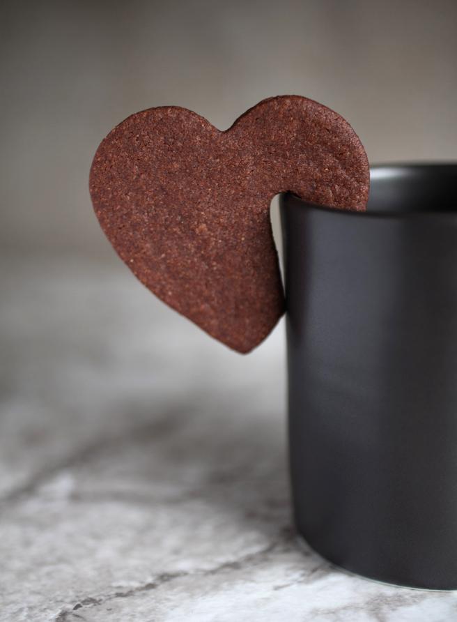 vegan devil's food tea cookie