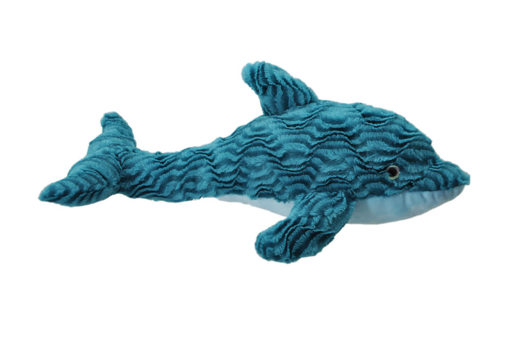 "The Petting Zoo: 21"" Wavy Turqoise Dolphin"