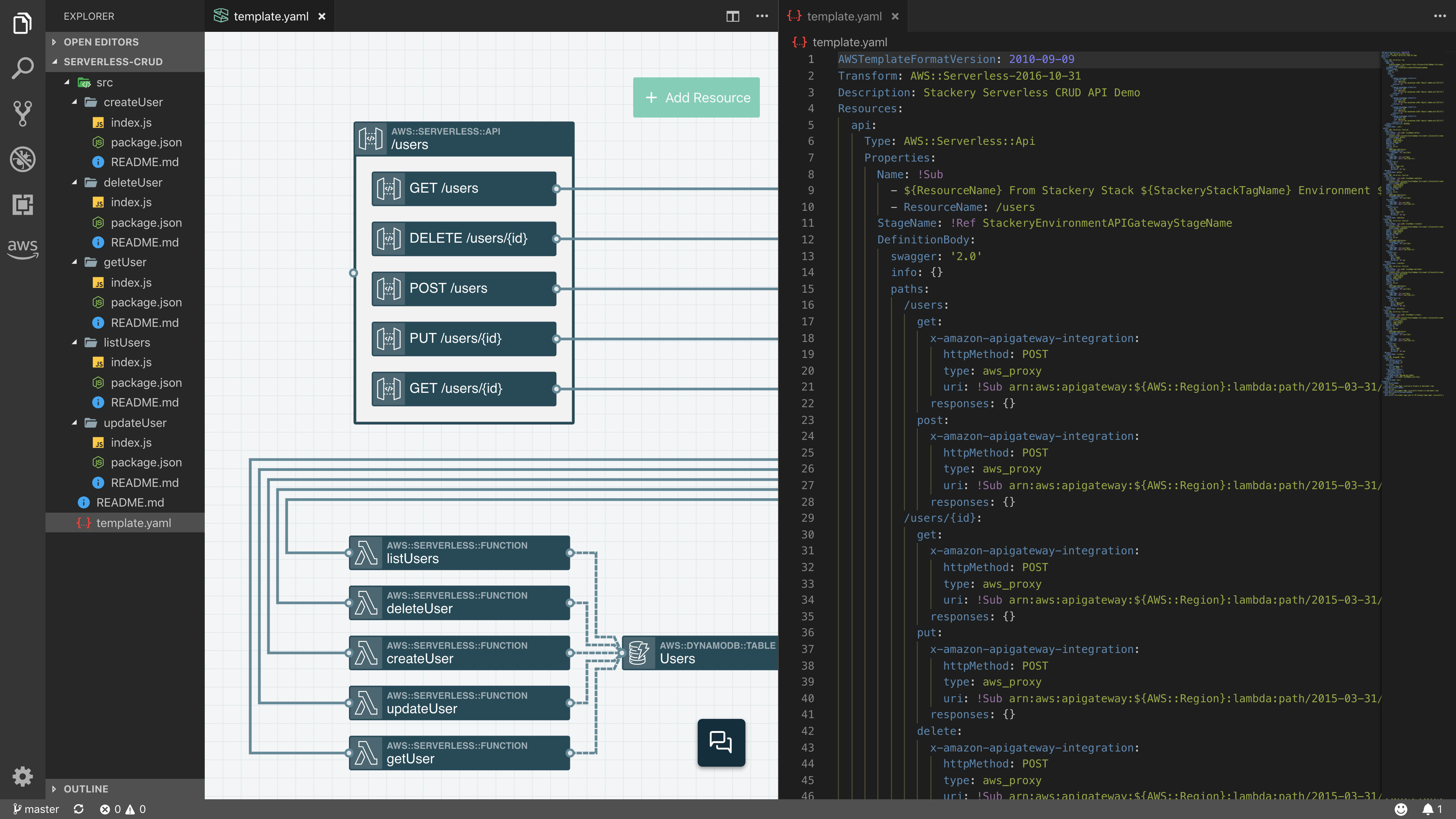 vs code interface