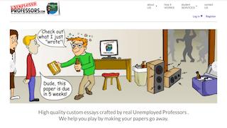 unemployedprofessors.com main page