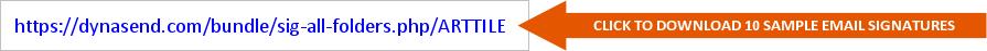 email signatures download URL