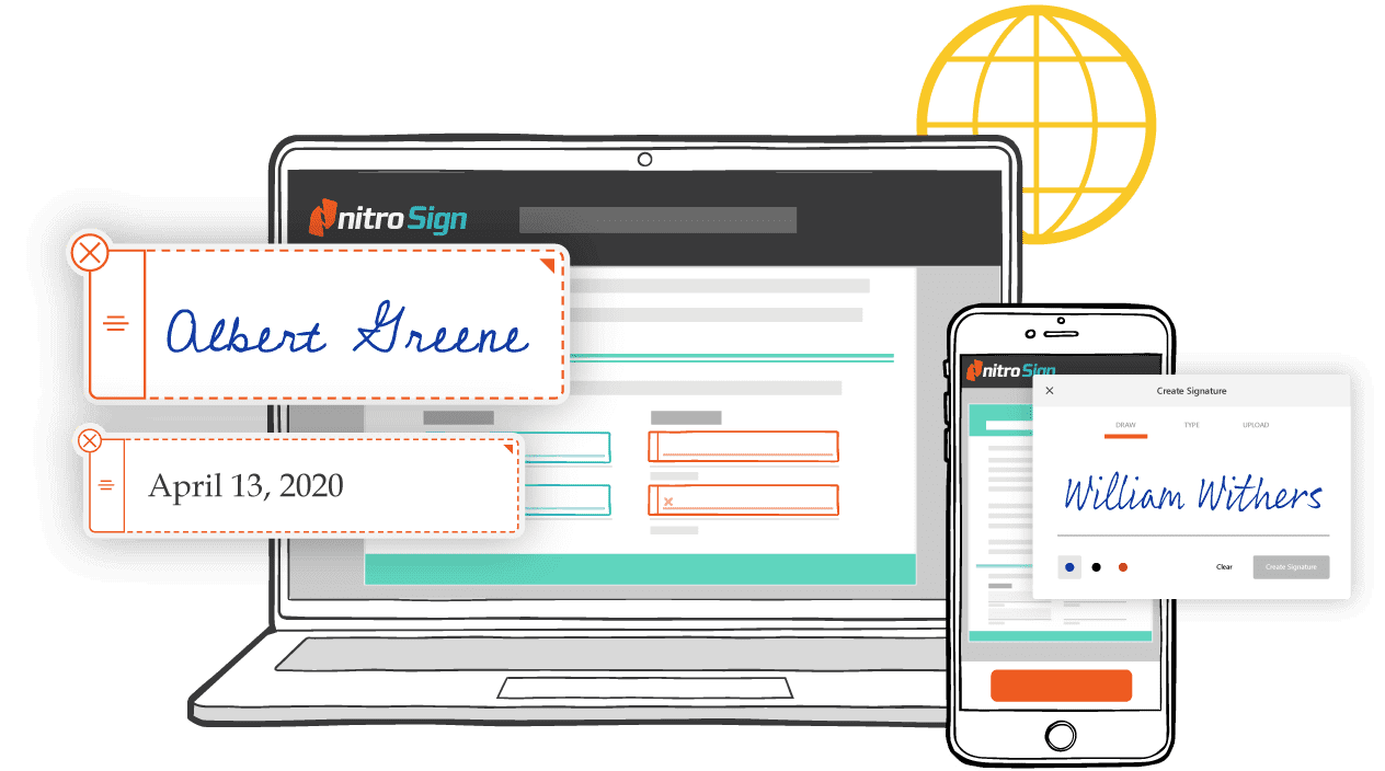 Electronic signatures anywhere and anytime