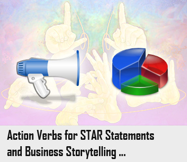 Star Interview Action Words Image.