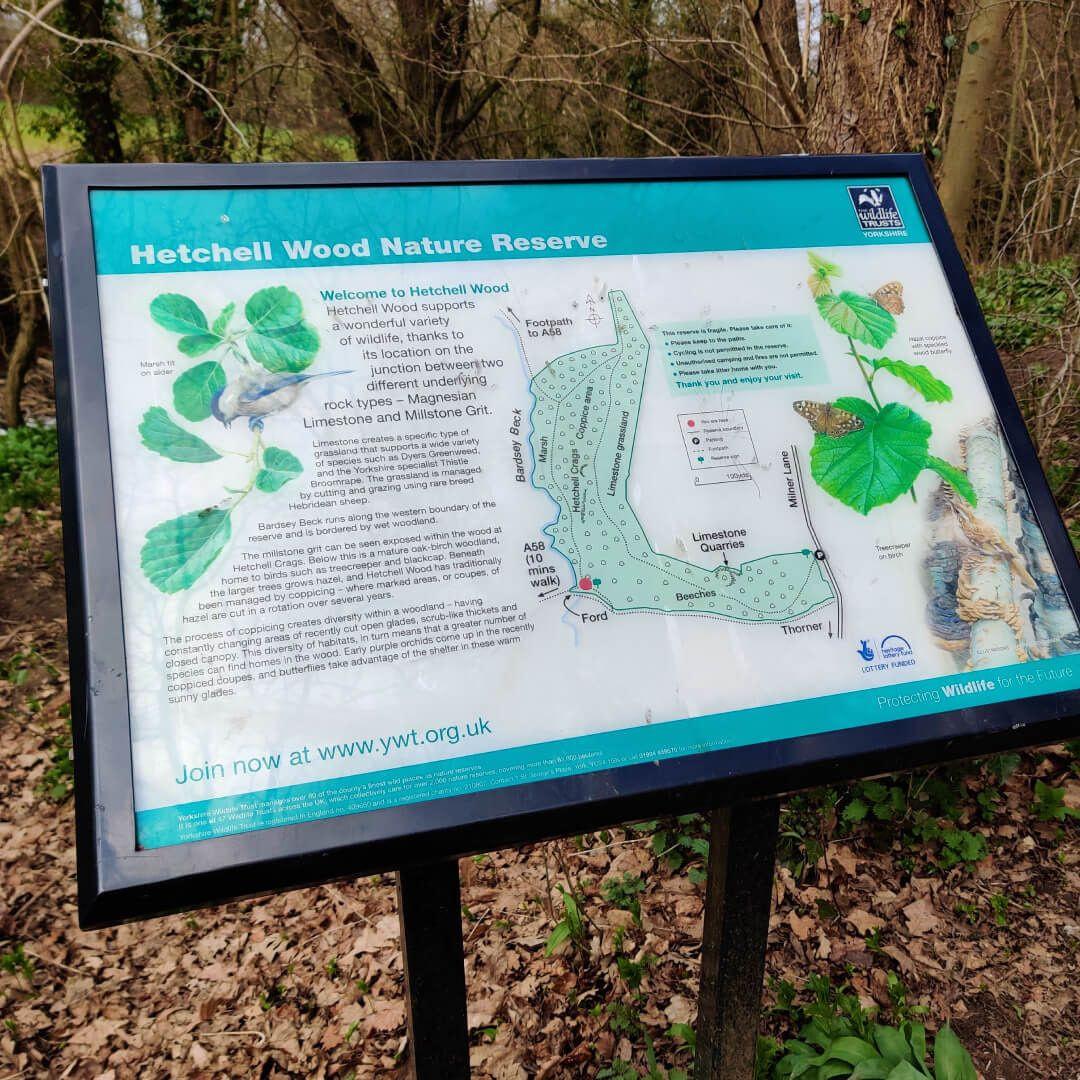 Map at Hetchell Woods Leeds