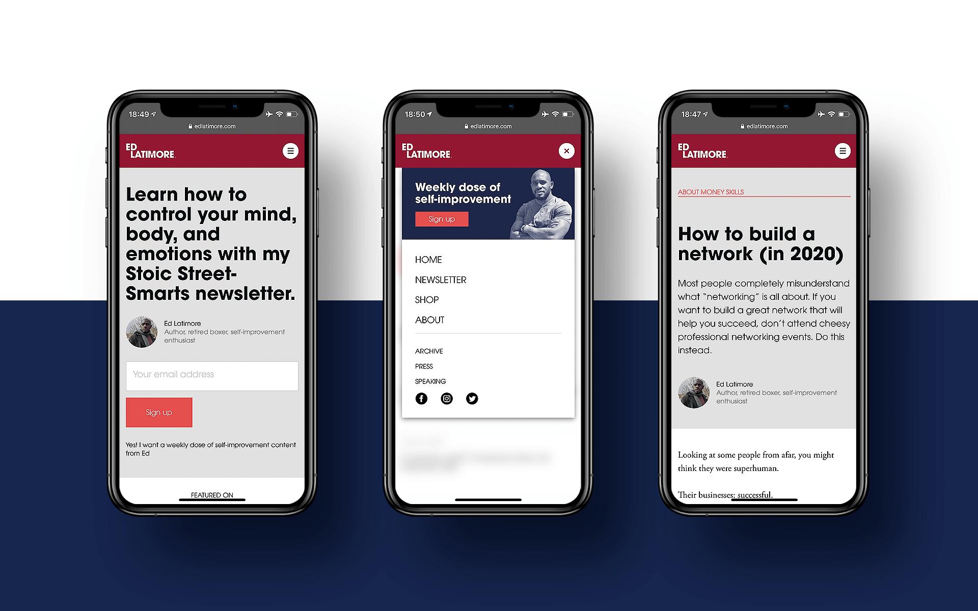 Personal brand website design