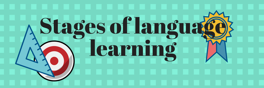 Stages of language learning banner