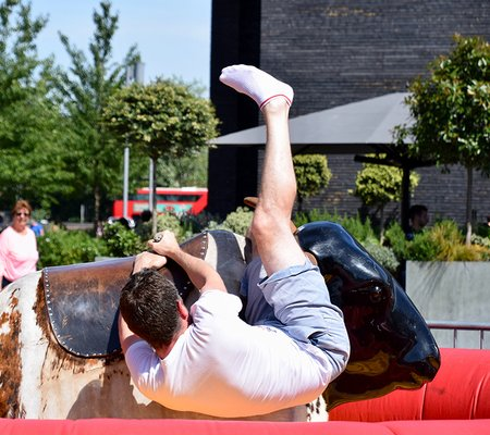falling off the bull
