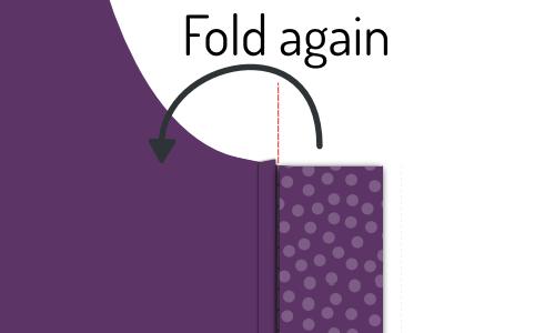 Fold the buttonhole placket again