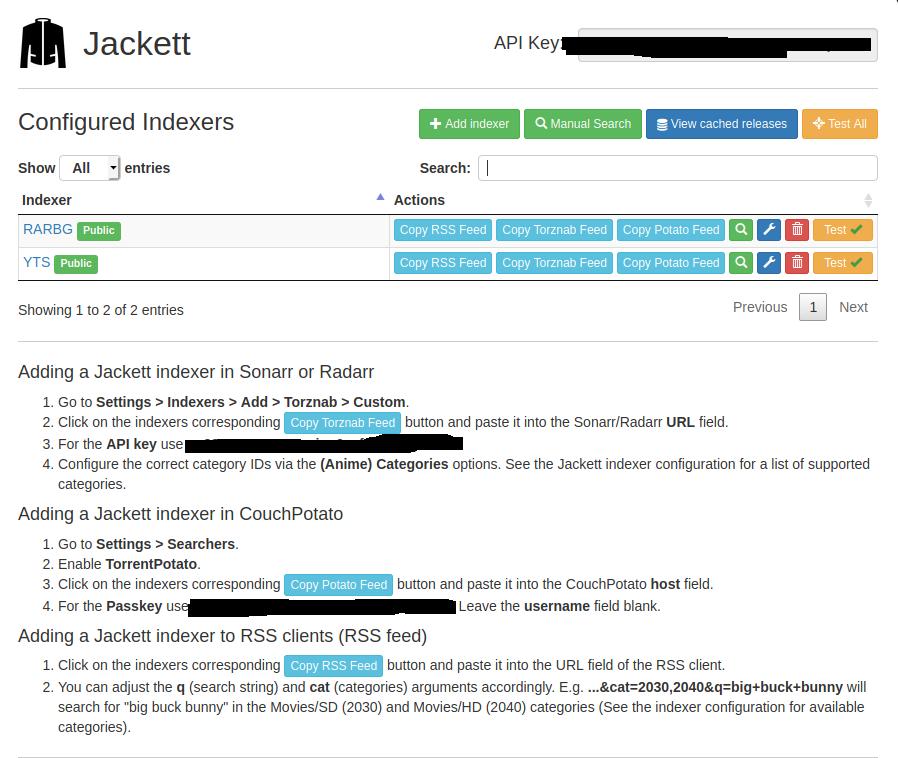 Jackett Config