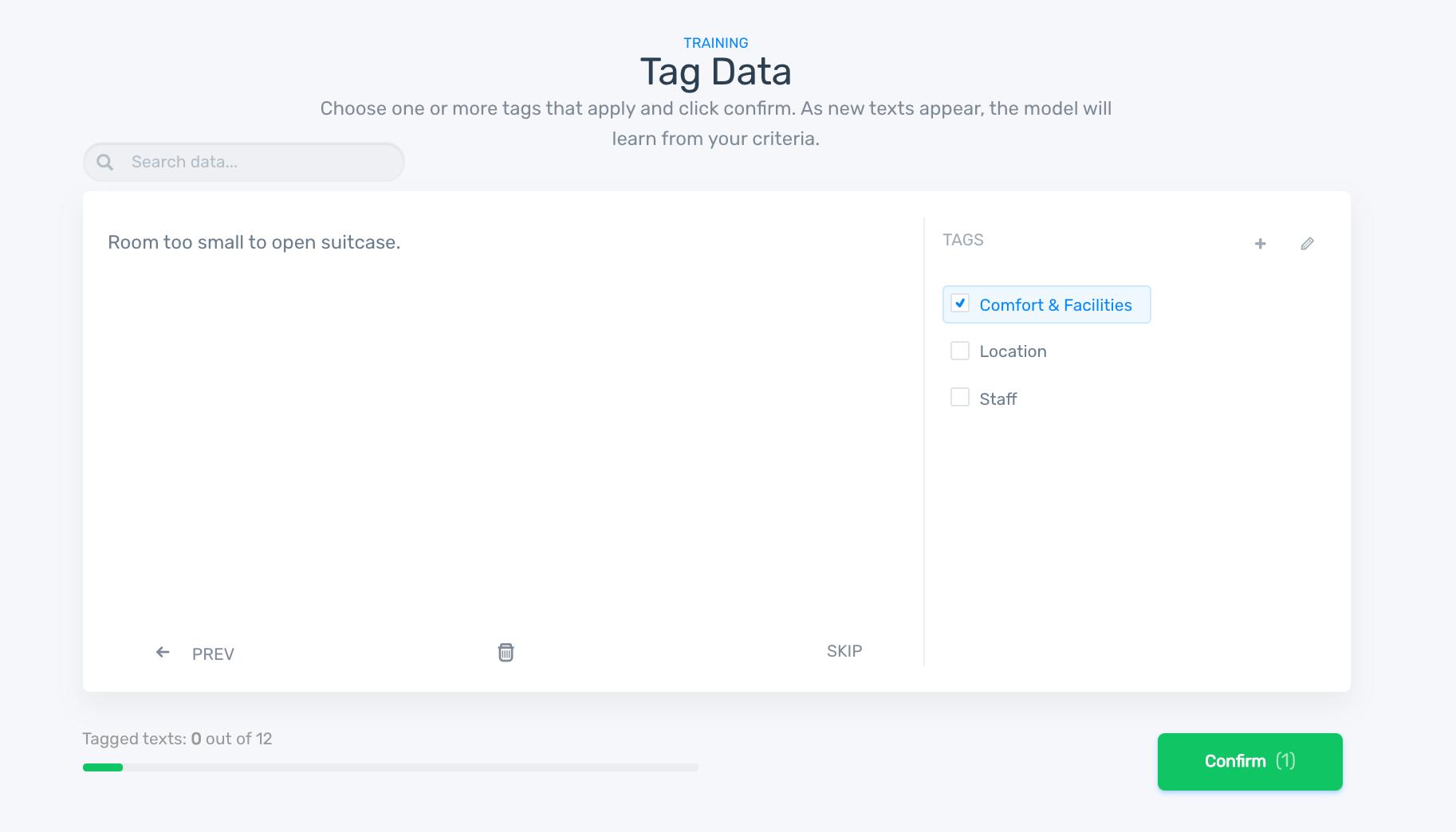 Tag data