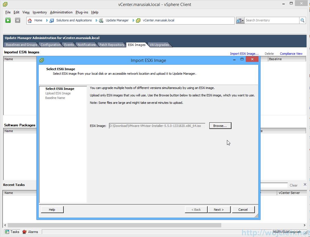 ESXi update - vSphere Update Manager 2