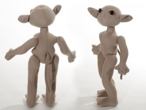 Front and back view of the Zelda poppet.