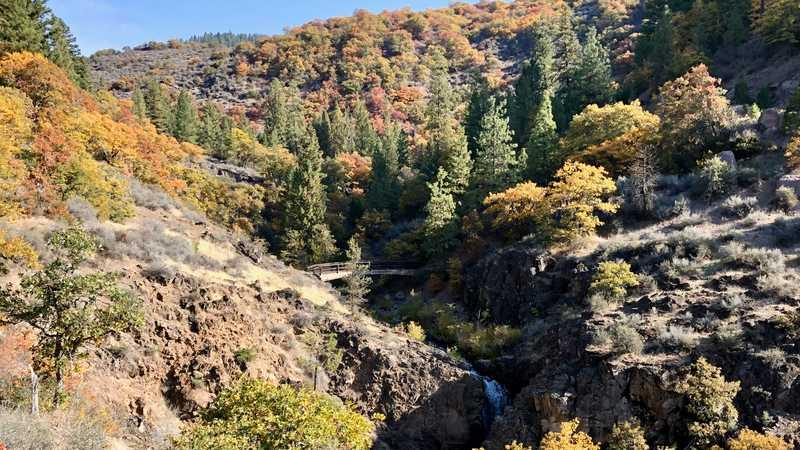 Footbridge over Rock Creek