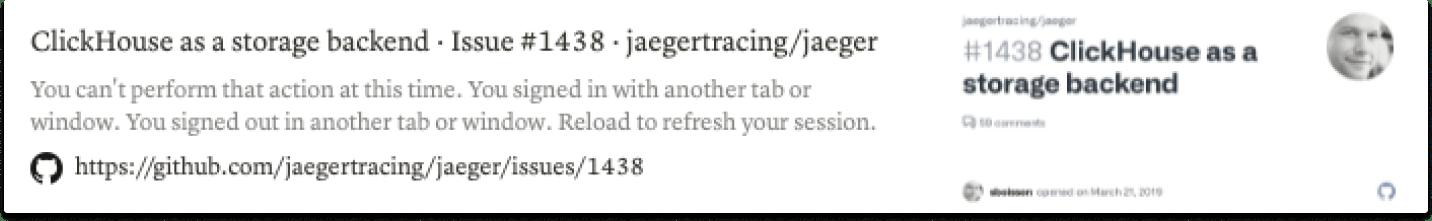 Jaeger GitHub issues