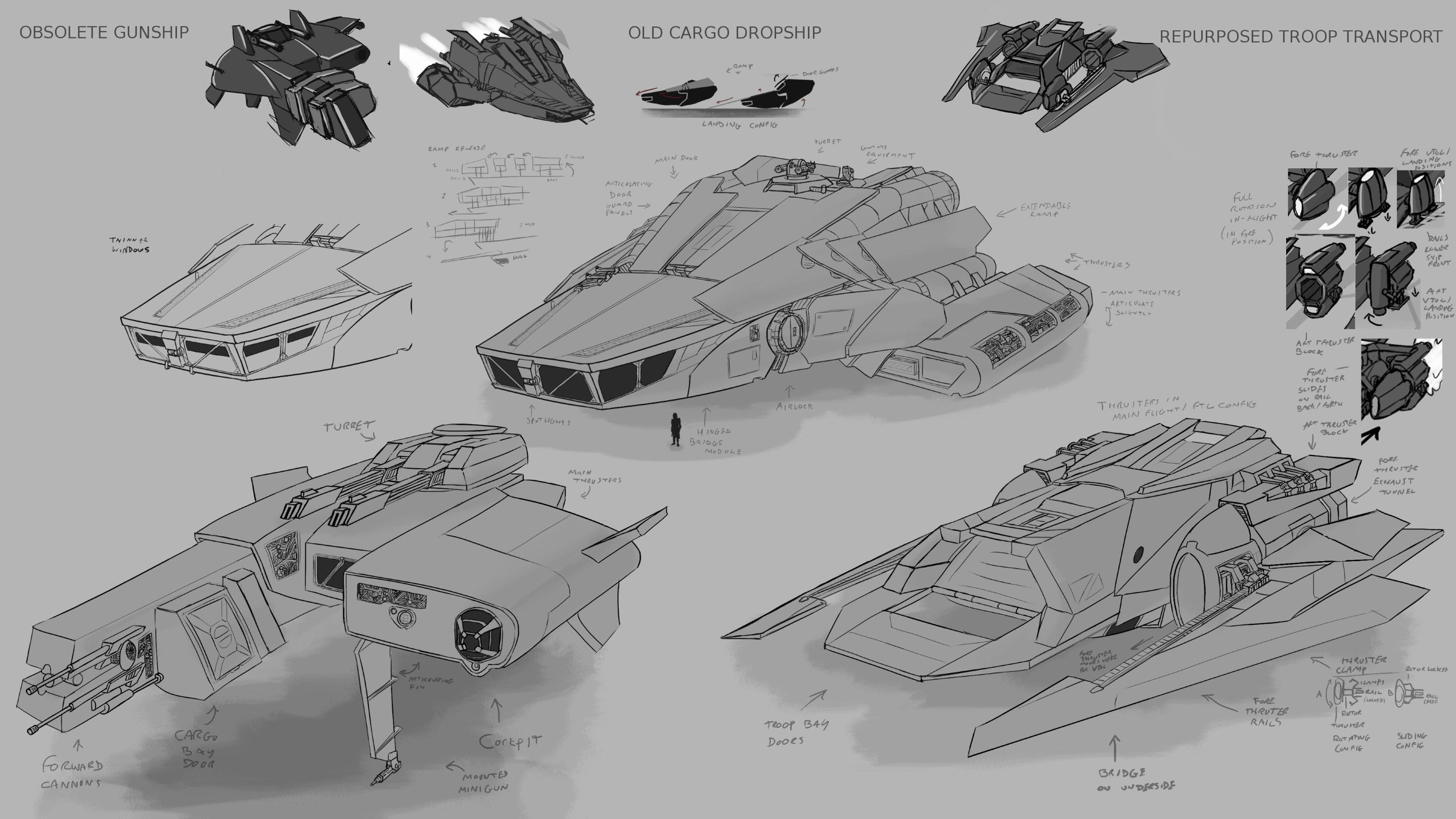 Soldier and Death: Hero Ship Iterations