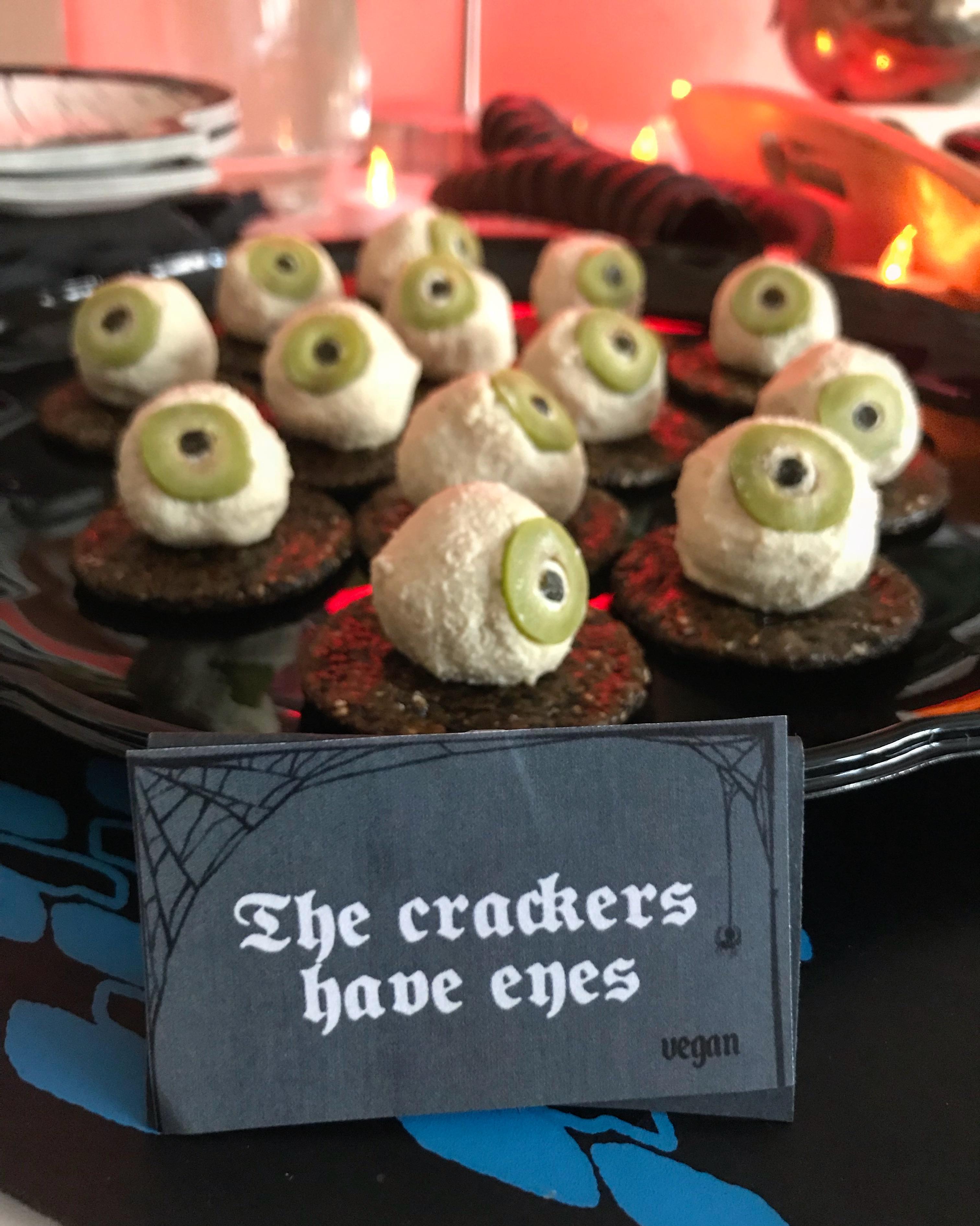 Vegan Cashew Cheese eyeballs