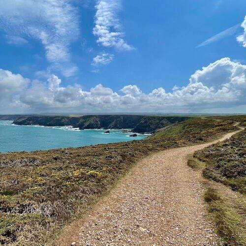 A coastal path atop cliffs near St. Ives.