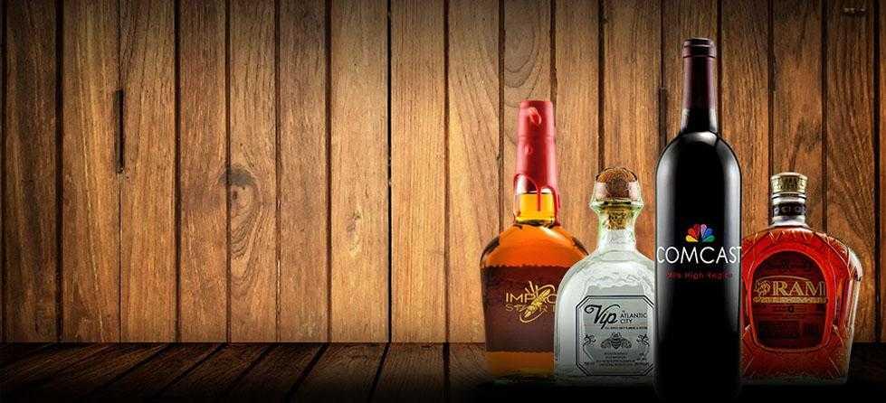 Bulk corporate orders of custom etched bottles