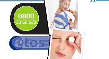 Etos webwinkel gebruikt een 0800-nummer.