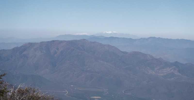 Snow on San Jacinto Mountains