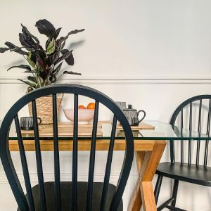Upcycled Black Dining Chairs