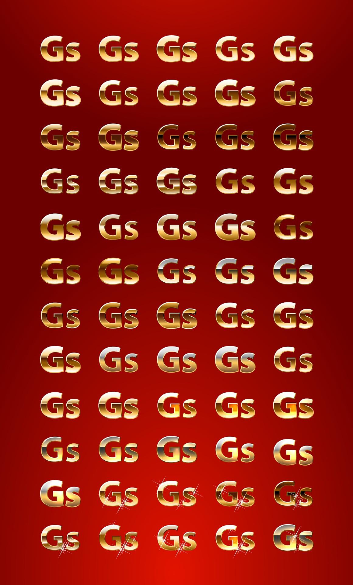 Pure Gold Adobe Illustrator styles images/puregold_2_styles.jpg