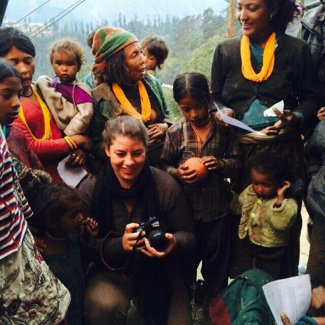 Natalie while volunteering in Nepal