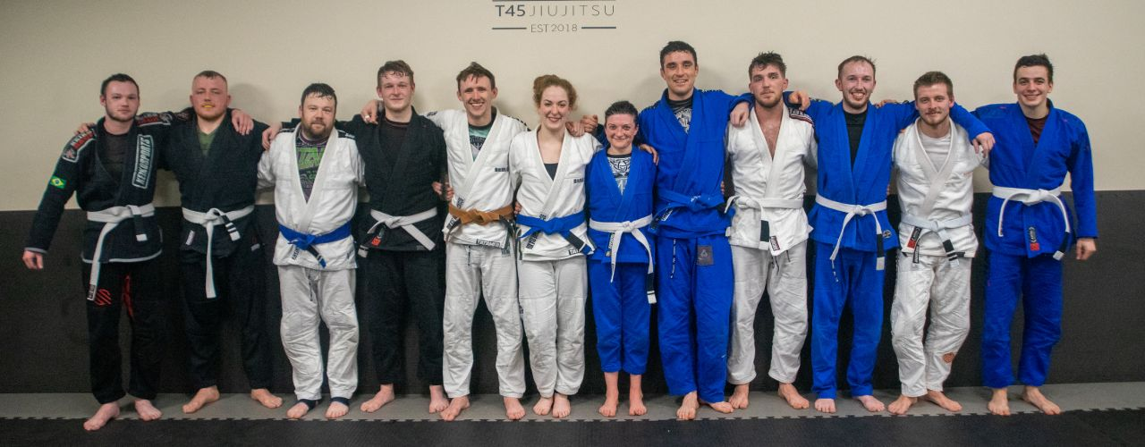 Some of the team at T45 Jiujitsu Cork
