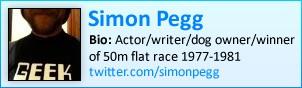 Simon Pegg on twitter