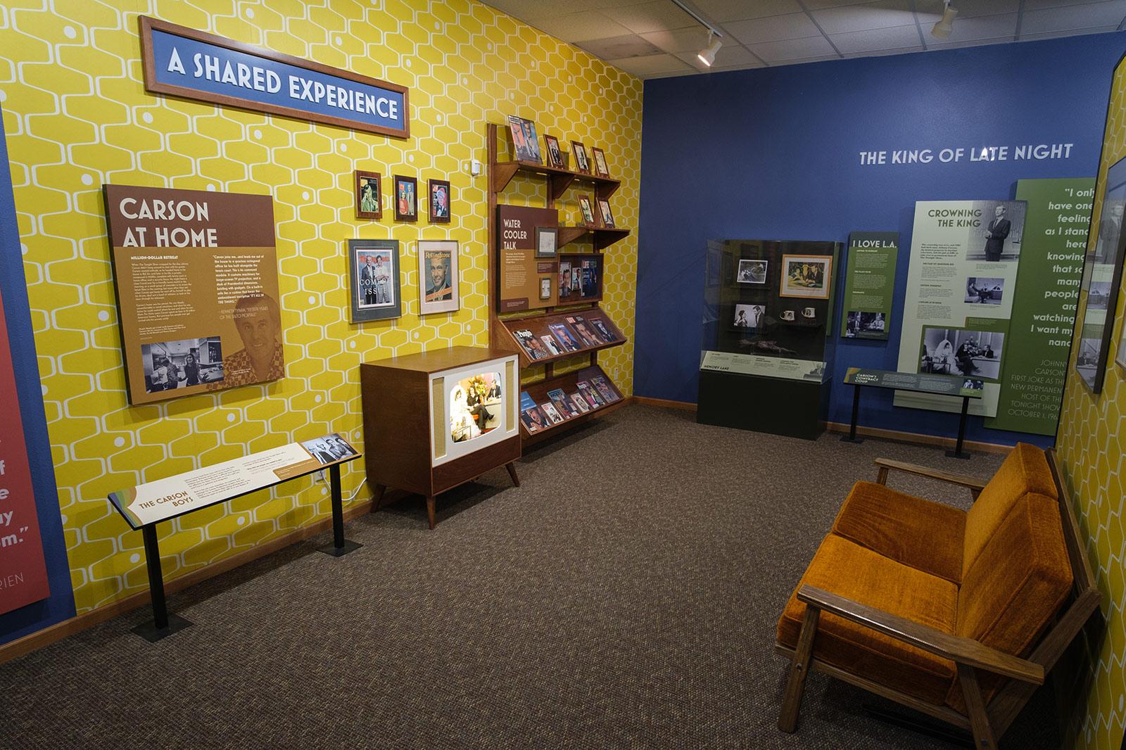 Johnny Carson museum exhibit 1960's living room