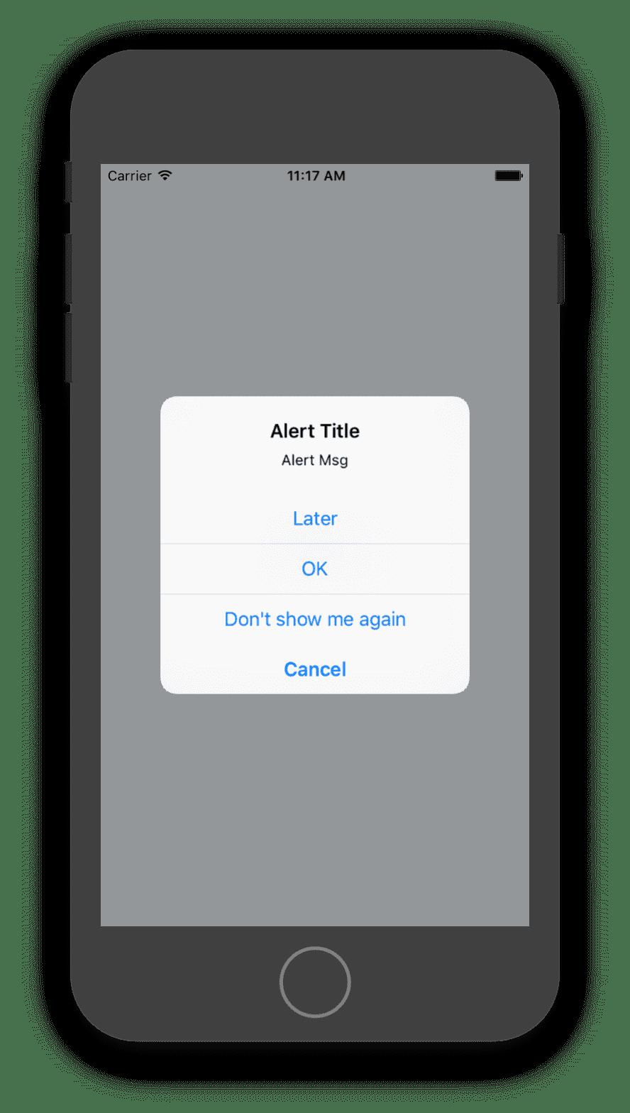 react native create alert