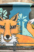 Ayla loves foxes, so I figured I should share this mural with her.