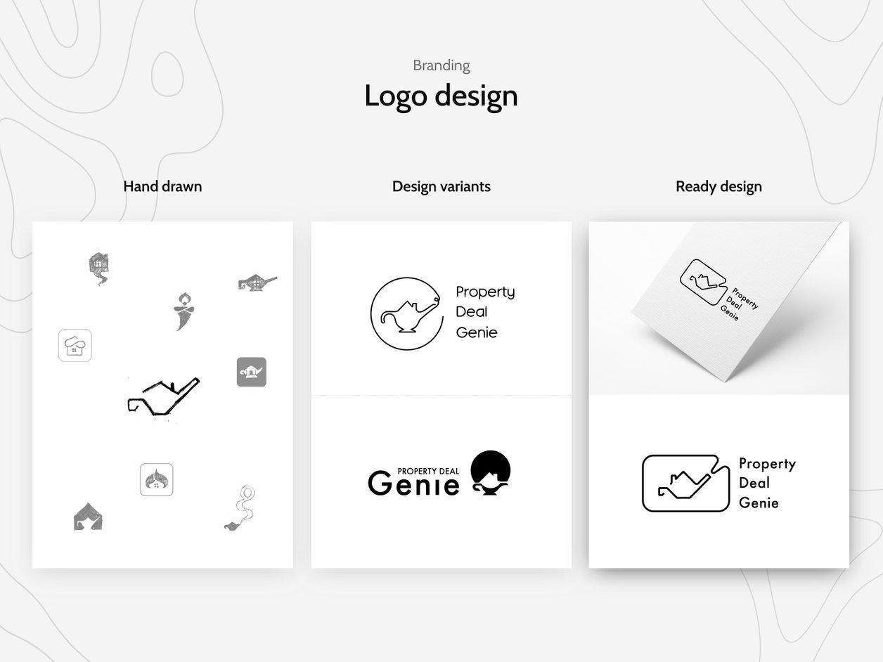 Logo Design Process - UX Design | Property Deal Genie