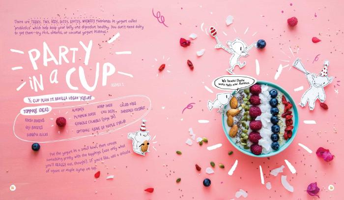 A yoghurt party in a cup
