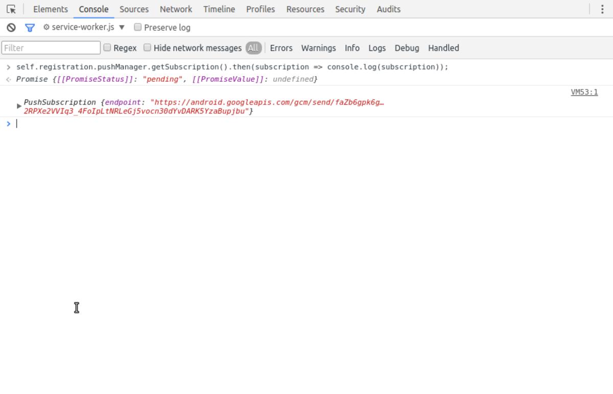 Push Subscriptions in DevTools