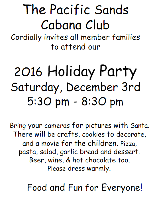 2016 Holiday Flyer