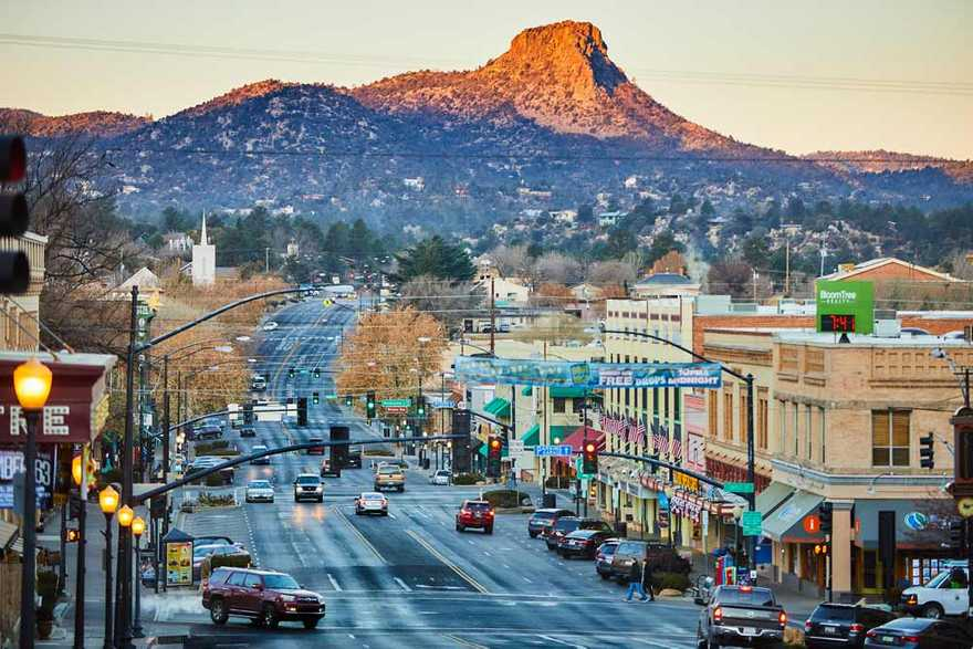 Scenic view of Prescott, Arizona