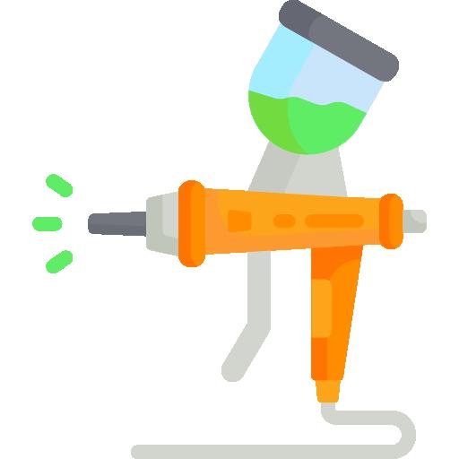 Green color spray can
