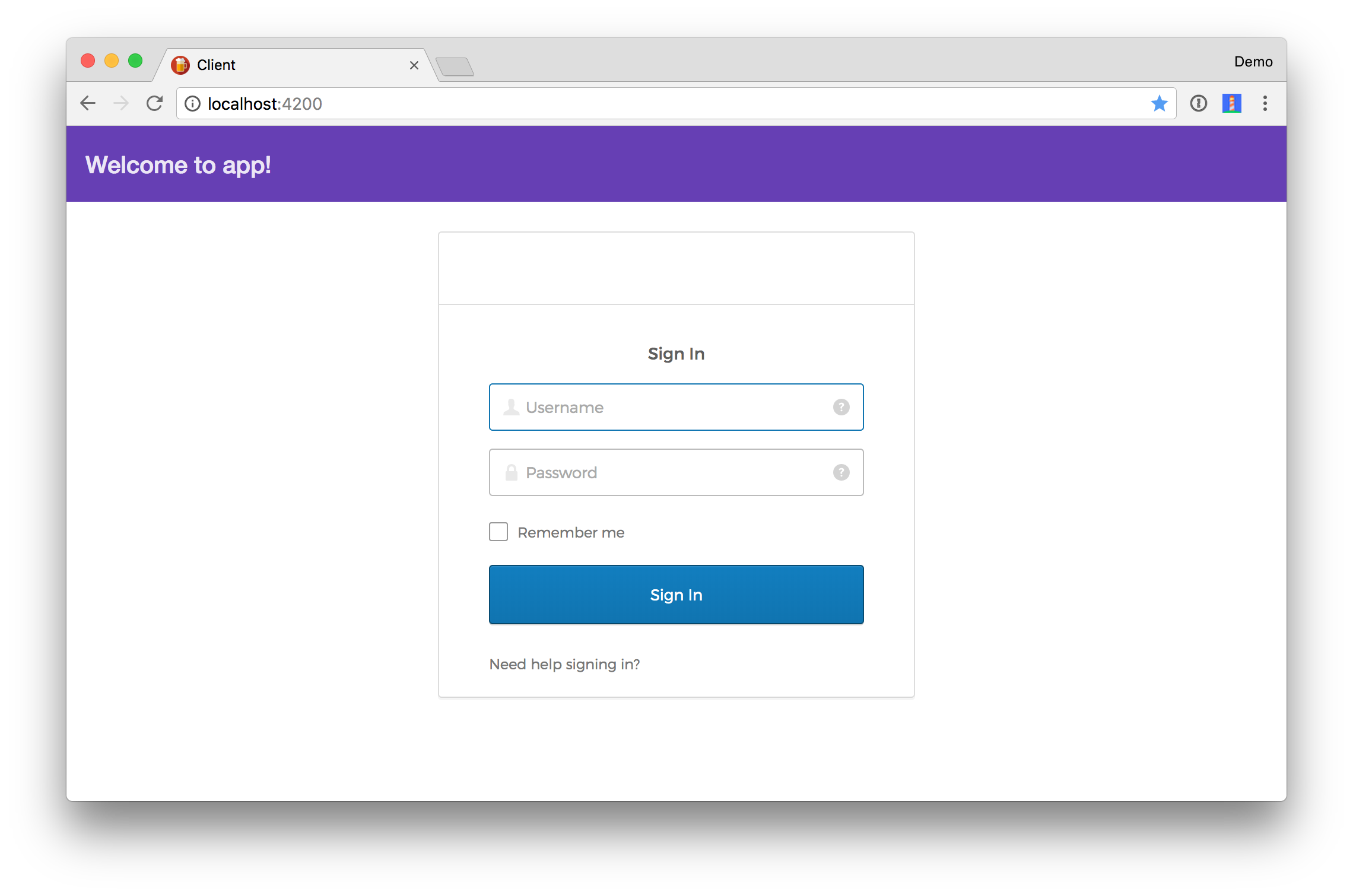 Angular Login Styled