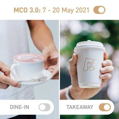 From midnight tonight, MCO 3.0 kicks off in KL in the effort to stem the spread of COVID-19.   ☕ ➡️ 🥤  While dining in is no longer allowed, fret not, we are still open for takeaways and you can still get your favourite WOT beverages delivered right to your doorstep with our delivery partners @grabfoodmy and @foodpandamy 🛵  Please stay home, stay safe and stay healthy. Together we can get through this and we will see you guys around very soon! ✨  #whatsontapkl #plazamontkiara #montkiara #montkiaracafe #specialtycoffee #coffeeroaster #coffeebeans #coffeetime #coffeeculture #coffeemovement #cafekl #malaysiancafes #mco3