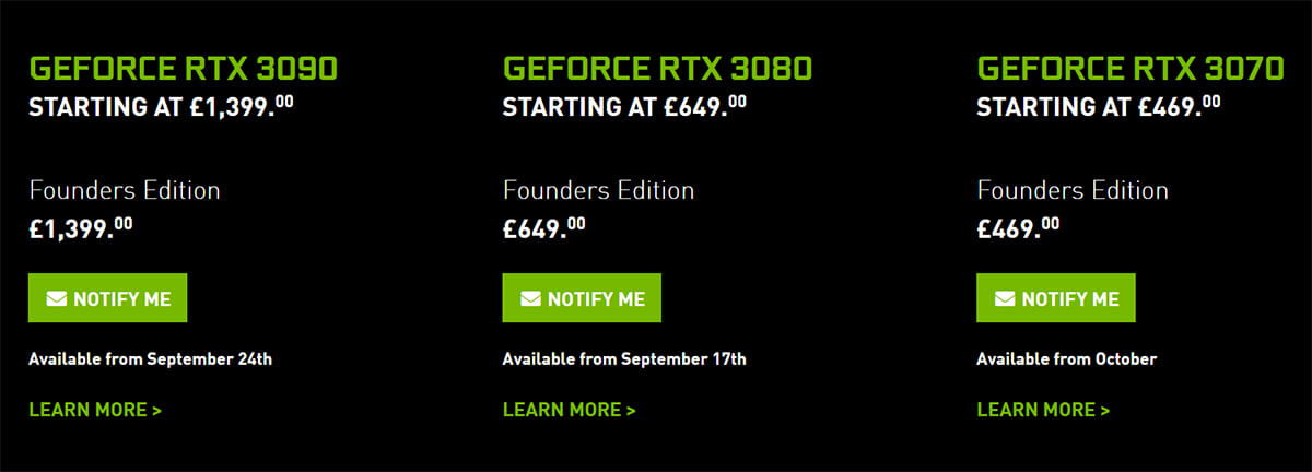 nvidia geforce rtx 3090 geforce rtx 3080 geforce rtx 3070 custom model