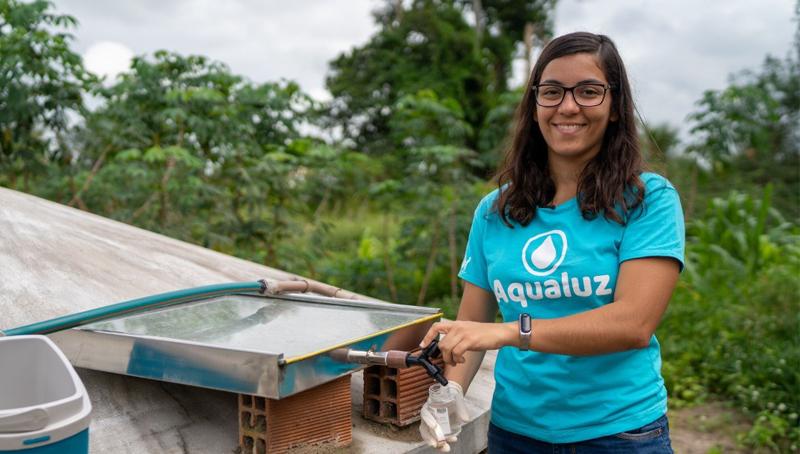 Imagem em destaque para o artigo: Jovem baiana é a primeira brasileira a ganhar prêmio ambiental da ONU