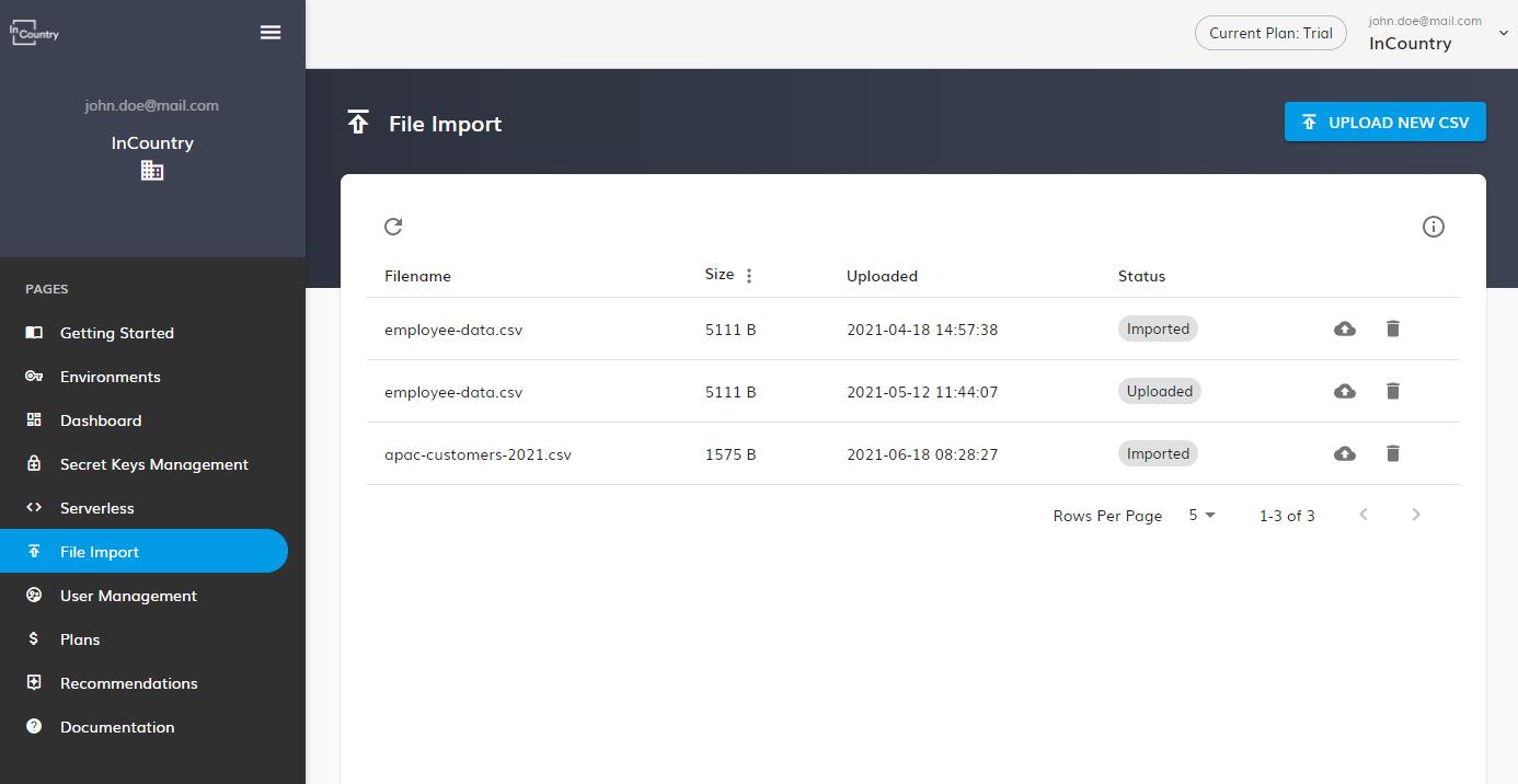 Click File Import