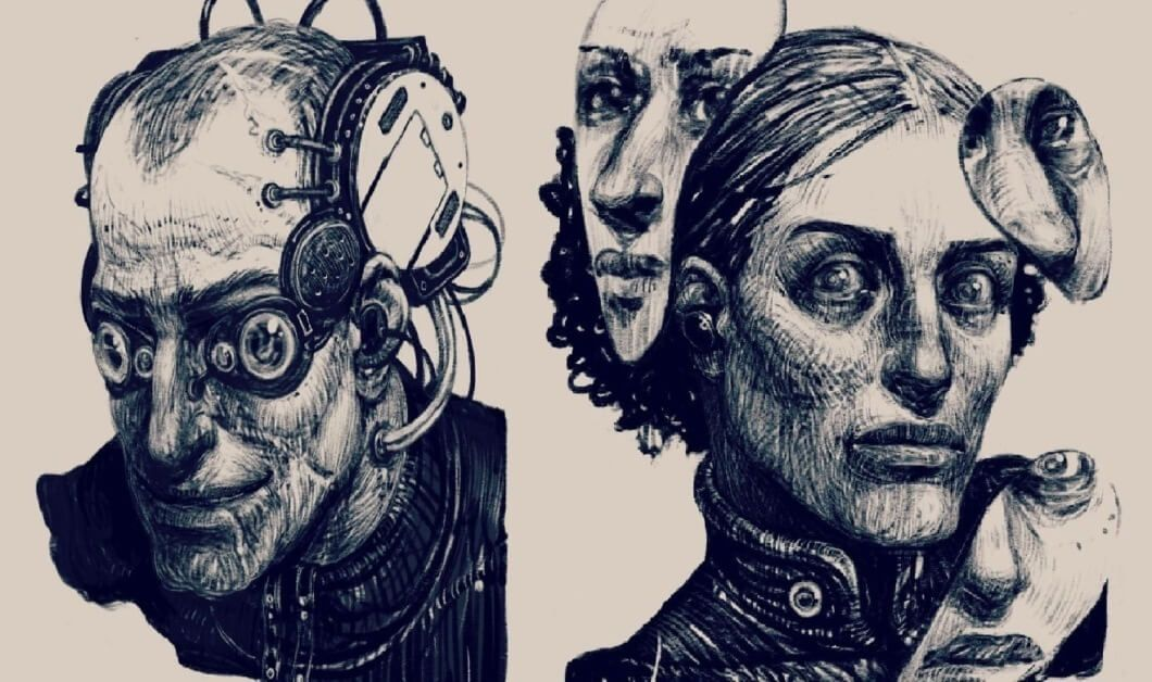 Иллюстрация ккниге «Ложная слепота». Источник: rifters.com
